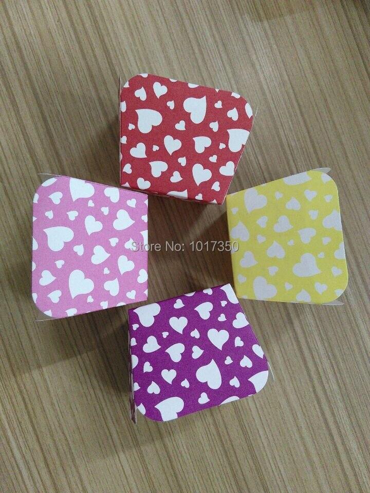 Free shipping colorful hearts Square <font><b>Paper</b></font> <font><b>baking</b></font> Muffin <font><b>Cases</b></font> Cake <font><b>Cup</b></font> Cupcake tray Birthday DIY Mini <font><b>Paper</b></font> <font><b>Baking</b></font> <font><b>Cups</b></font> supply