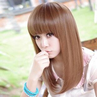 Long Straight Hair Korean Fashion Wig Short Hair Female Pear Head