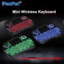 Hot New English 2.4GHz Wireless Backlight Keyboard Air Mouse Touchpad Handheld Backlit For Smart Android TV BOX Mini PC Tablets