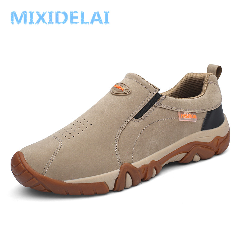 MIXIDELAI 2019 Spring Summer Genuine leather Out door Loafers Sneakers For Men Shoes Male Footwear Walking comfortable Slip-OnMIXIDELAI 2019 Spring Summer Genuine leather Out door Loafers Sneakers For Men Shoes Male Footwear Walking comfortable Slip-On