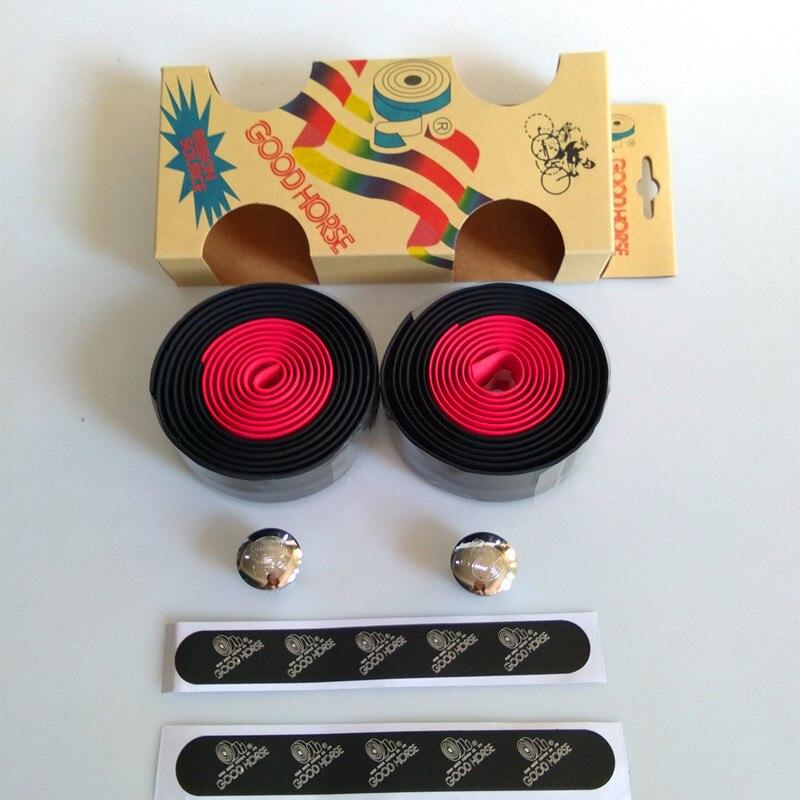 Road Bicycle Handlebar Tape Fixed Gear Bike Double Color Handlebar Tape Wraps EVA Material Bicycle Handlebar Tape
