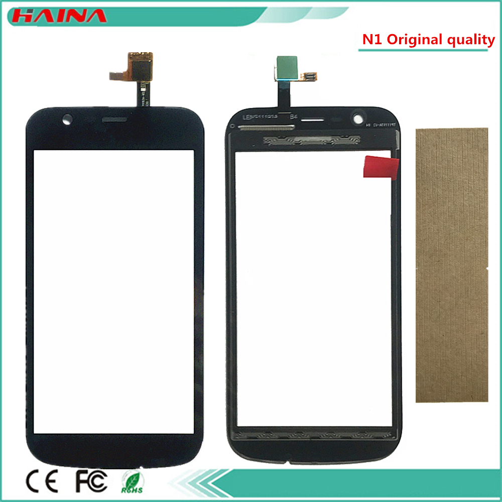 100% Original Quality Phone Touchscreen For Nokia 1 N1 Touch Screen Digitizer Sensor Outer Glass Lens Panel Black