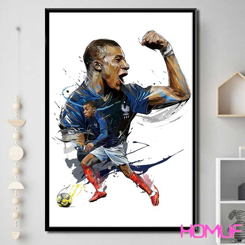 Diamond embroidery Kylian Mbappe PSG France World Champion diamond painting cross stitch diamond mosaic picture of rhinestones