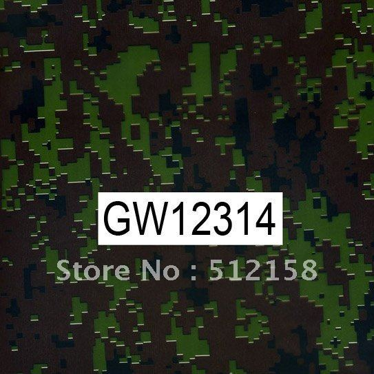 GW12314 WIDTH 100CM Camouflage water transfer printing films &Water Transfer Printing Hydro Graphics Film- Green Army Camo