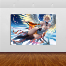 Framework Home Decor Modular Canvas Picture 1 Piece Sexy Mercy Game Painting Poster Wall For Wholesale