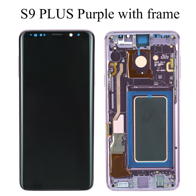 ORIGINAL SUPER AMOLED Replacement for SAMSUNG Galaxy S9 LCD Touch Screen Digitizer with Frame S9 Plus LCD G960 G965 with Frame