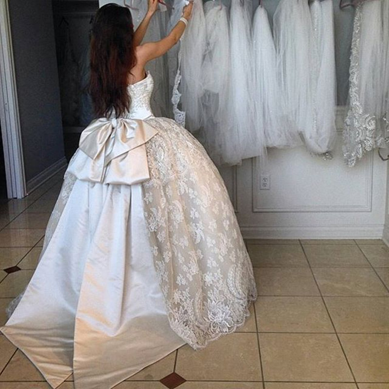 Custom Luxury Vintage Ball Gown 2016 New 1950s White Lace