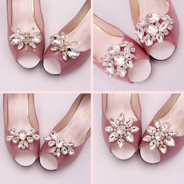 e6d94b7ef3a5 1pcs Size As Show Glass   Resin Rhinestone Shoes Resin Flower Applique  Chain Crystals Rhinestones Applique For DIY Evening Dress