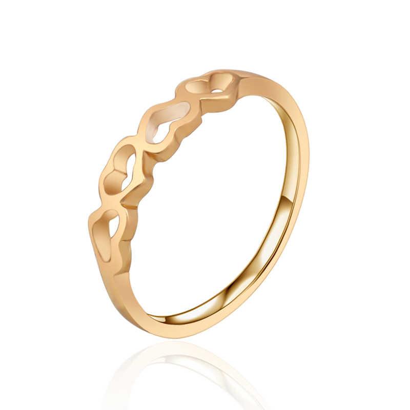 G37 หัวใจงานแต่งงานแหวนทองเครื่องประดับคุณภาพจำลองแหวนคริสตัล Love เครื่องประดับขายส่ง