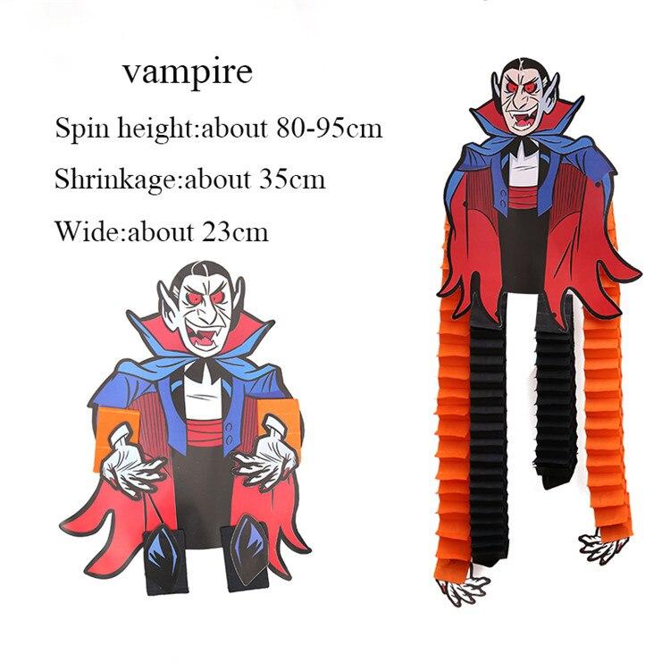 Zilue 1 шт. Хэллоуин выставка декораций реквизит Скелет Вампира бумага висячие вечерние принадлежности для представления украшение для ночных клубов - Цвет: vampire
