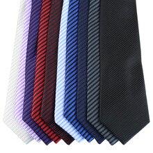 Coahella Галстуки диагональные полосы вязаный жаккардовый галстук тощий галстук 7 см с тефлоновой тканью протектор(10 цветов на выбор