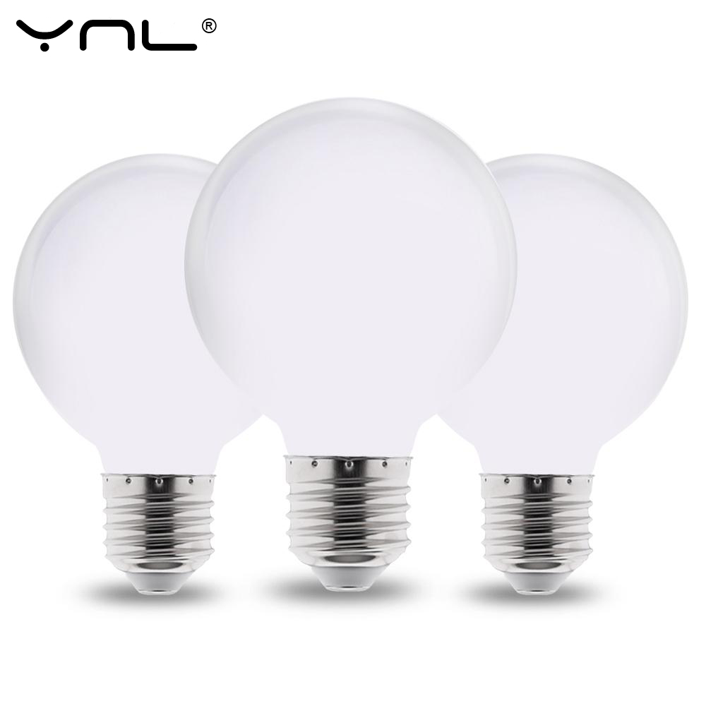 Milky E27 LED Light Bulb 220V 110V 85-265V Lampada LED Lamp G80 G95 G125 Ampoule LED Bulb Cold / Warm White For Chandelier