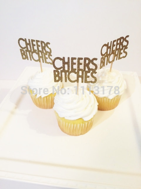 cheers cupcake toppers gold glitter bridal shower cupcake toppers wedding cupcake toppers wedding engagement in cake decorating supplies from home