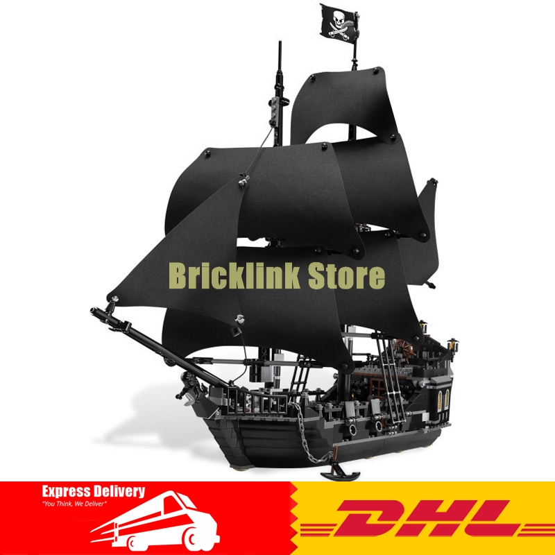 DHL 2018 New LEPIN 16006 Pirates of the Caribbean The Black Pearl Building Blocks Educational Funny Set 4184 Toy For Children lepin 16006 16016 pirates of the caribbean 16009 queen anne s revenge legoinglys 70618 black pearl model building kits blocks