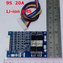 9S 20A lipo литий-полимерный BMS/PCM/PCB плата защиты батареи для 9 пакетов 18650 литий-ионный аккумулятор