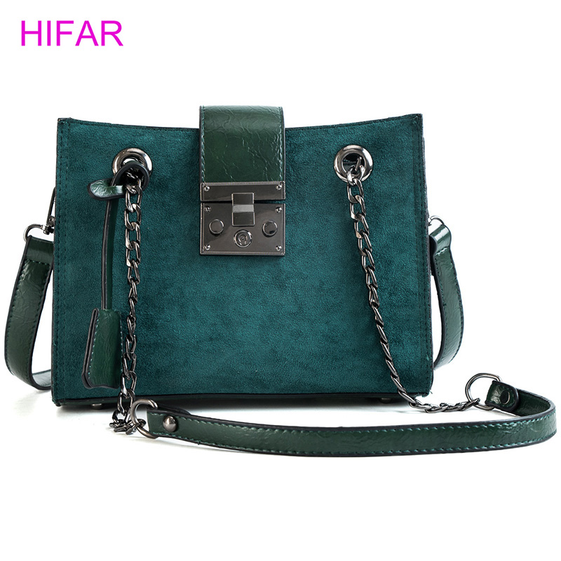 Women's small handbag trend fashion 2018 New arrival scrub bag shoulder chain messenger bag colorful simple style