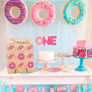 Image 3 - Taoup 10pcs שרף שמנת קינוח מלאכותי סופגנייה מזון מזויף אבזר סוכריות סופגנייה עיצוב עבור טלפון שמח מסיבת יום הולדת דקור עבור בית