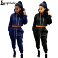 2016 Autumn 2 Piece Set Women Hoodies Track-Suit 4Color Hooded Sweatshirt + Long Pants Winter Fitness Sweat+Suits Woman VS Pink