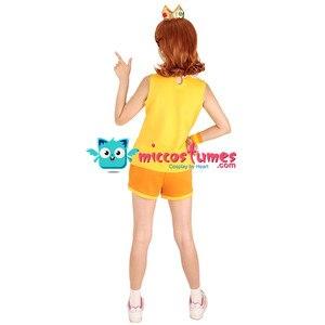 Image 4 - Mario Tennis Princess Daisy Cosplay Costume with Crown