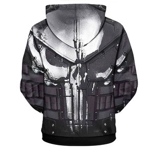Image 2 - YOUTHUP 2020 Cosplay Hoodies For Men Skull 3d Print Hooded Sweatshirts Men Cool Punisher Hoodies 3d Pullover Plus Size 5XL Coat
