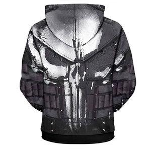 Image 2 - YOUTHUP 2020 คอสเพลย์ Hoodies สำหรับผู้ชาย Skull 3D พิมพ์ Hooded Sweatshirts ผู้ชาย Cool Punisher Hoodies 3D Pullover PLUS ขนาด 5XL เสื้อ