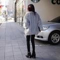 Women Winter Faux Fur Coat White Fox Fur Jacket Luxury Thick Warm Outerwear Fluffy Short Furry Coat