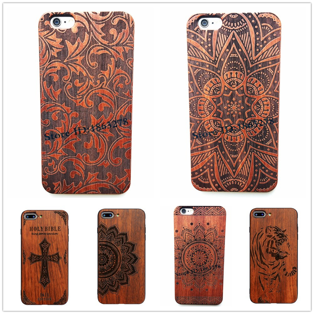29 Style Indian Henna Mehndi Flower Leaf Design Wood <font><b>Phone</b></font> <font><b>Case</b></font> For <font><b>Iphone</b></font> 5 5S SE 6 6S Plus 7 <font><b>7Plus</b></font> Wooden Iphone6 Back Cover