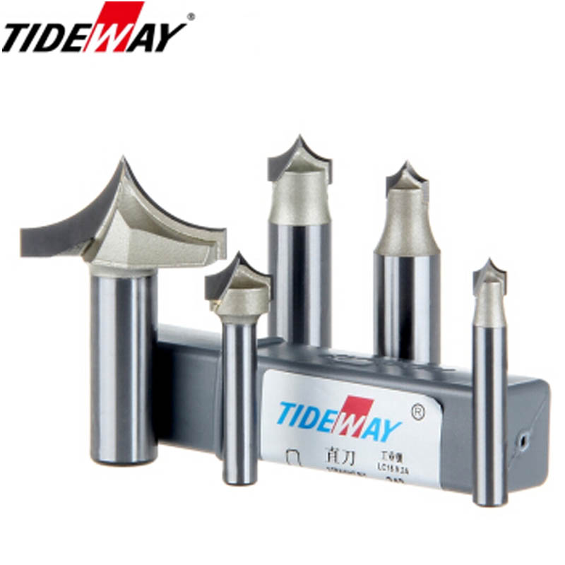 цена на TideWay Point Cutting Round Over Bit Professional Grade Woodworking Carving Tool Tungsten Carbide Router Bit for Wood 1/2 Shank