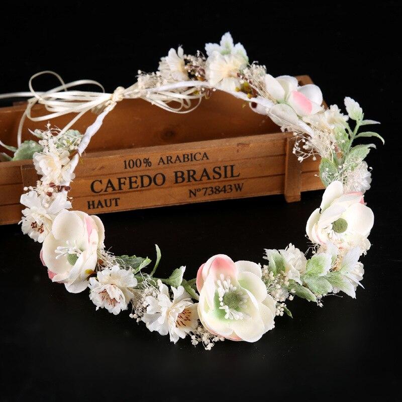 White Flower For Hair Wedding: New Fashion Hairwear Ladies White Flower Hairbands Wedding