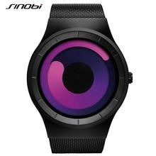 SINOBI Lady Watches Women Fashion Watch 2017 Creative Stainless Steel Mesh Strap Quartz Wristwatch Clock Woman Relogio Feminino