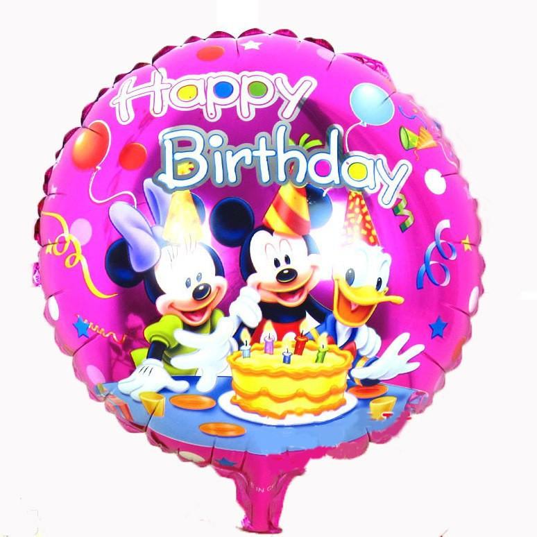ducha de la nia inch calidad de mickey mouse impreso globos feliz cumpleaos del