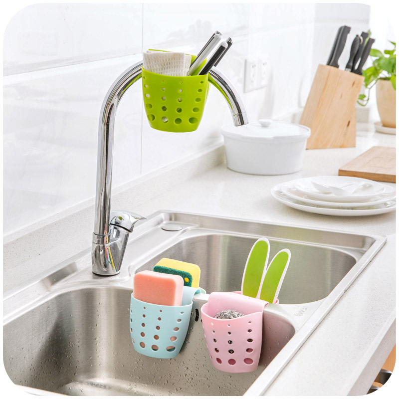 Wonderful Sink Storage Holders Racks Bathroom Kitchen Cleaning Scouring Pad