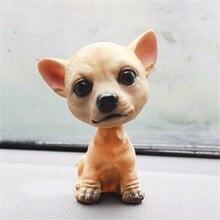 Автомобиль орнамент кивнув собака Авто Даш качалки головы собака природной смолы собака игрушка для салона автомобиля Аксессуары дома подарок