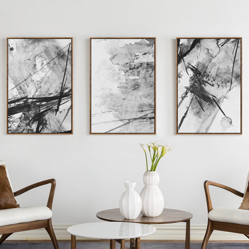 Bianche Wall Modern New Abstract Ink Splash A4 Canvas Painting Art Print Poster Picture Wall Decoration Modern Home Decoration