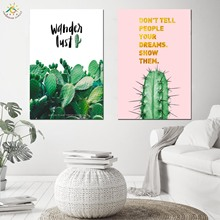 Cactus Green Plants Leaf Nordic Canvas Scroll Painting Posters Prints Art Framed Poster Wall Pictures for Living Room
