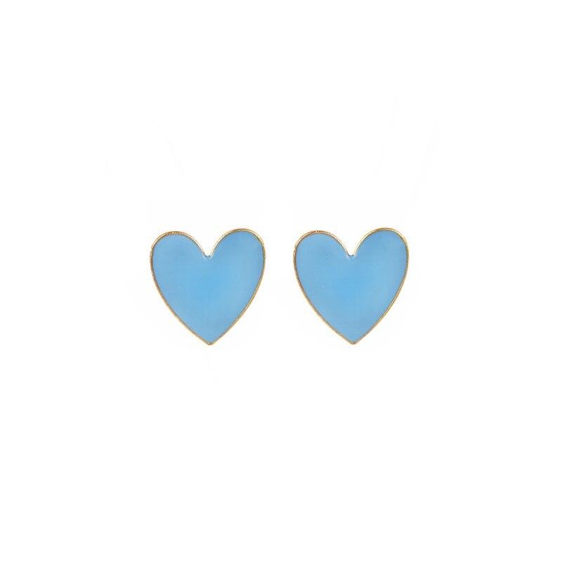 Модное ожерелье с подвеской для глаз для женщин, ожерелье с кристаллами, сексуальные персонализированные чокеры, короткая цепочка на ключицы, ювелирные изделия - Окраска металла: heart stud blue
