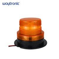 10 110V IP65 Waterproof Amber Strobe Warning Light Magnetic LED Flashing Beacon Alarm Lamp with 4 Flicker Modes