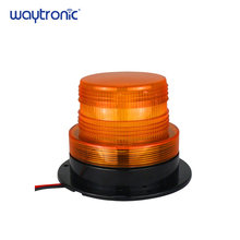 10-110V IP65 Waterproof Amber Strobe Warning Light Magnetic LED Flashing Beacon Alarm Lamp with 4 Flicker Modes(China)