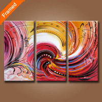 100 Hand Painted Abstract Oil Painting On Canvas Modern Art Triples Oil Paintings For Wall Decoration
