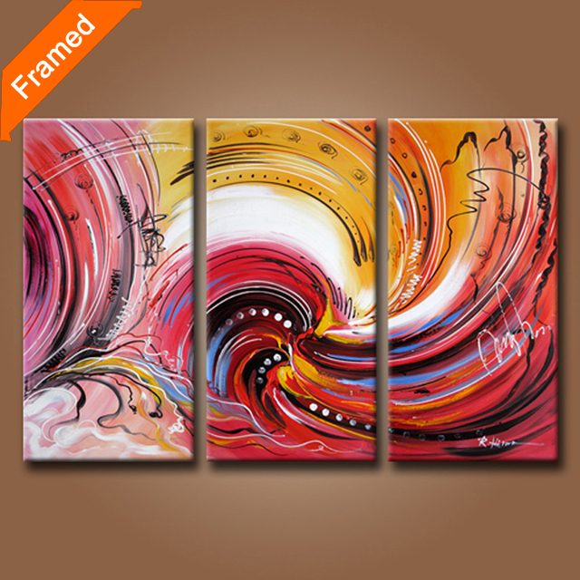 100% hand painted abstract oil painting on canvas modern art triples oil paintings for wall decoration