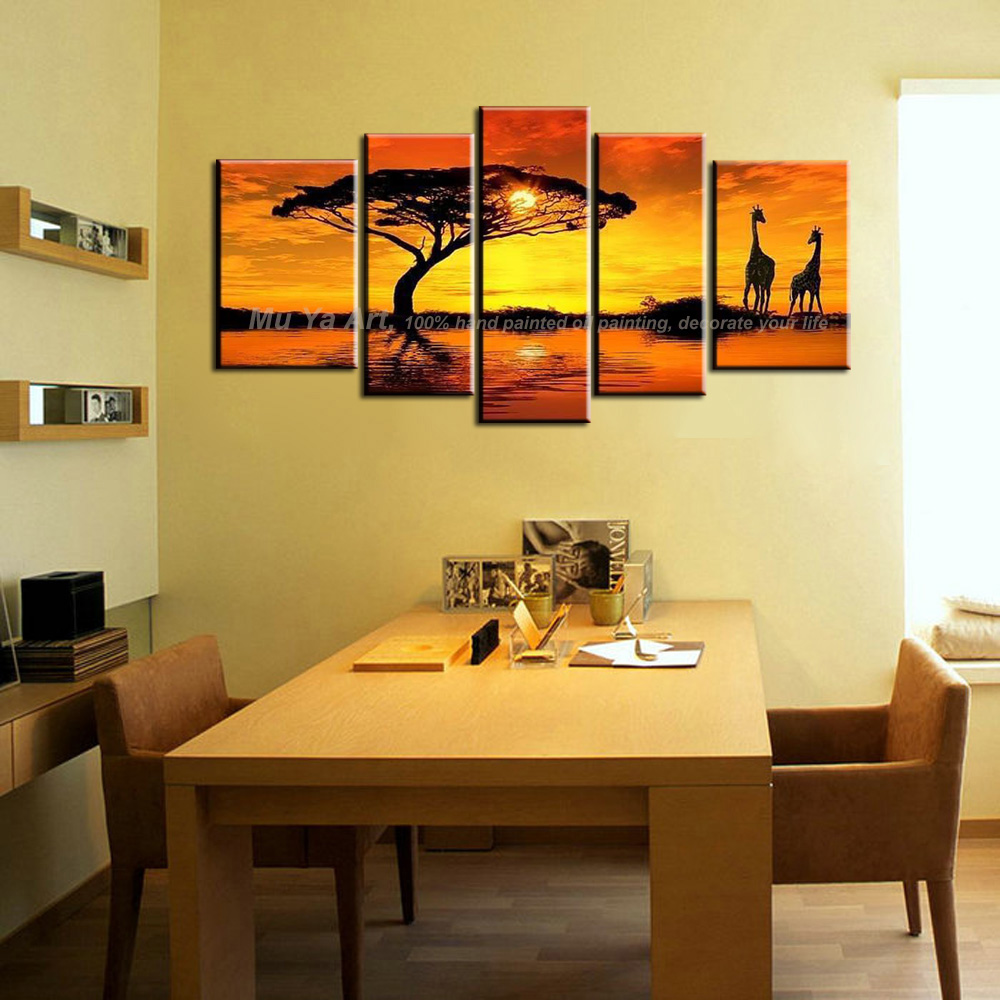 Handmade scenery painting nature modern canvas wall art abstract ...