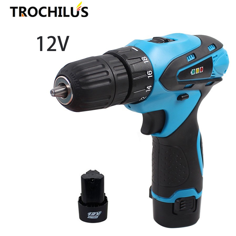 12V High Quality Power Tools cordless Screwdriver Multi-function Miniature Electric Screwdriver with Lithium Battery * 2 high quality screwdriver combination set unique telescopic function