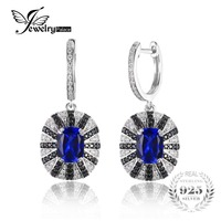 HOT 2014 Fashion Luxury Accessories 5 5ct New Brand Sapphire Spinel Earrings Dangle Solid 925 Sterling