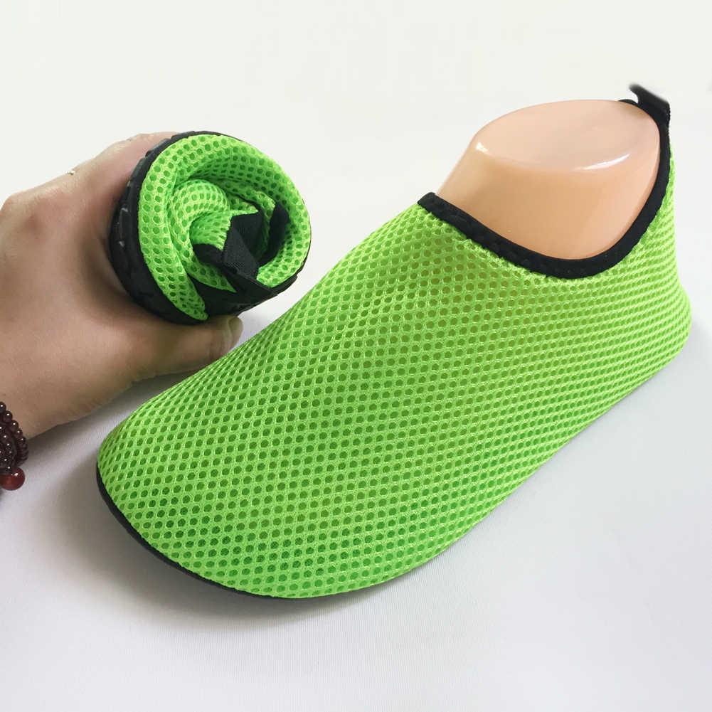 d996fc548 ... Unisex Men Women Water Shoes Nylon +Neoprene Mesh Aqua Socks Yoga  Exercise Pool Beach Dance ...