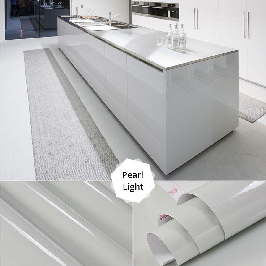 Glossy Marble Contact Paper Furniture Desktop Wardrobe Door Stickers Removable Self Adhesive Vinyl Wallpaper PVC Waterproof Film