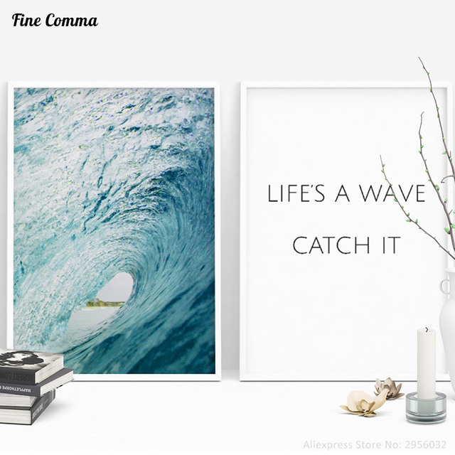 636 Ocean Wave Nordique Art Imprimer Scandinave Décor Art Décor Affiches Et Tirages Mur Photo Pour Salon Wall Art Toile Imprimer Dans Peinture Et