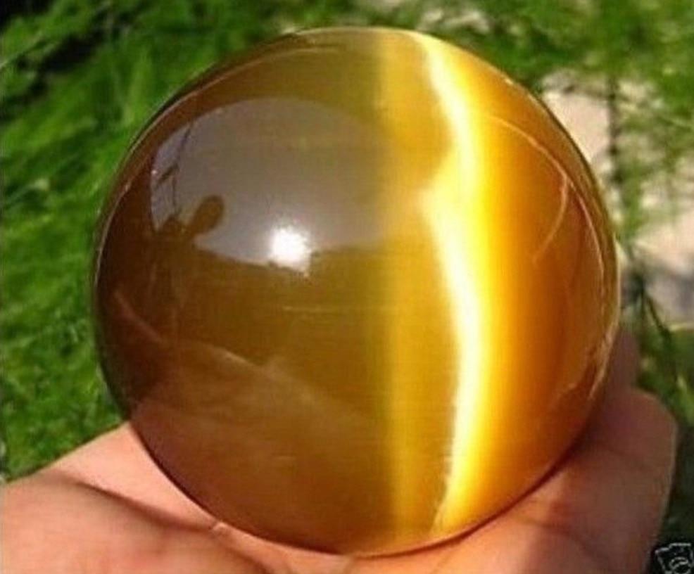 Beautiful ASIAN QUARTZ TIGER EYE CRYSTAL HEALING BALL SPHERE 40MM + STAND