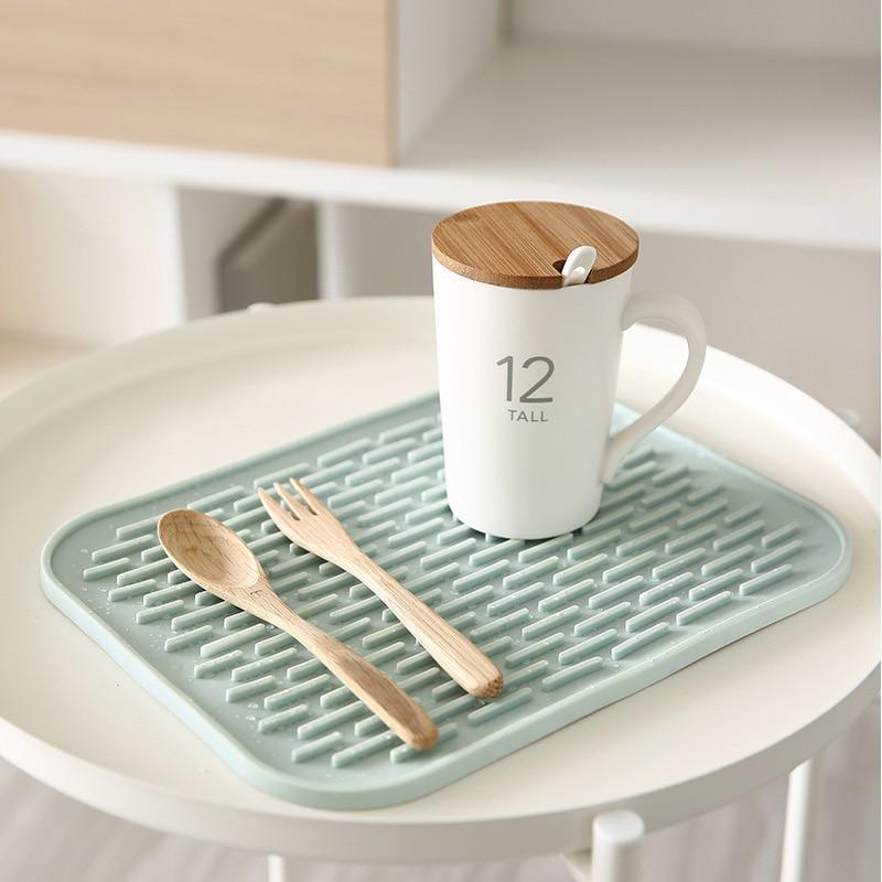 Non slip Placemat Bar Mat Baby Kids Plate Mat Table Mat Heat Resistant Coffee Cup Mats Kitchen Accessories in Mats Pads from Home Garden