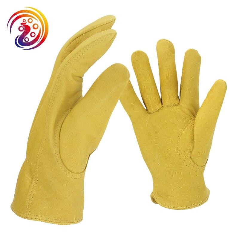 OLSON DEEPAK Gartenarbeit Arbeit Handschuhe Treiber Handschuhe Fabrik Durchführung Cape Schaffell Handschuhe HY007