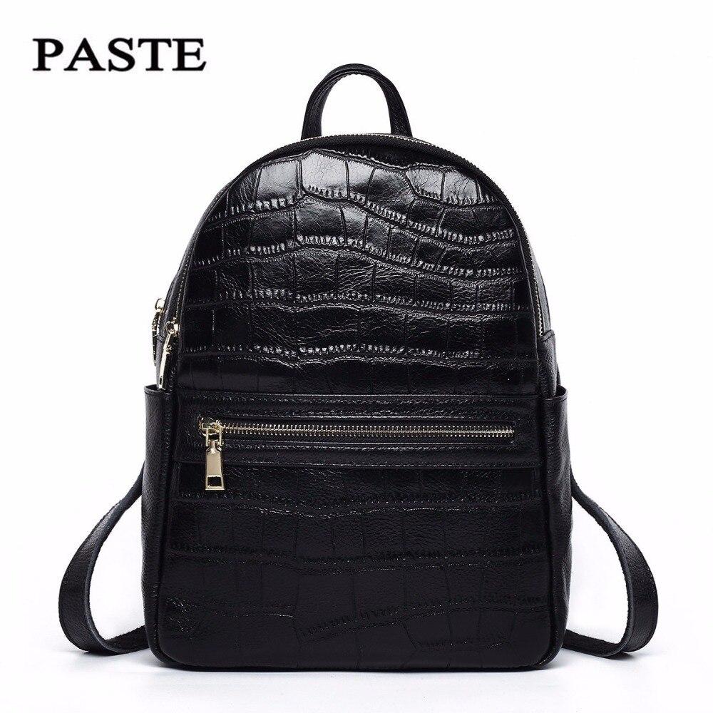 Genuine leather backpacks for women 2018 new luxury women backpack female bags brand designer women bags ladies school bag bolsa